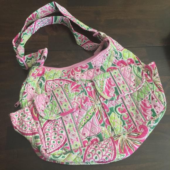 Vera Bradley Messenger Bag (Green   Pink Paisley).  M 5a8f479c2ab8c573db320dcd 76713017efca3
